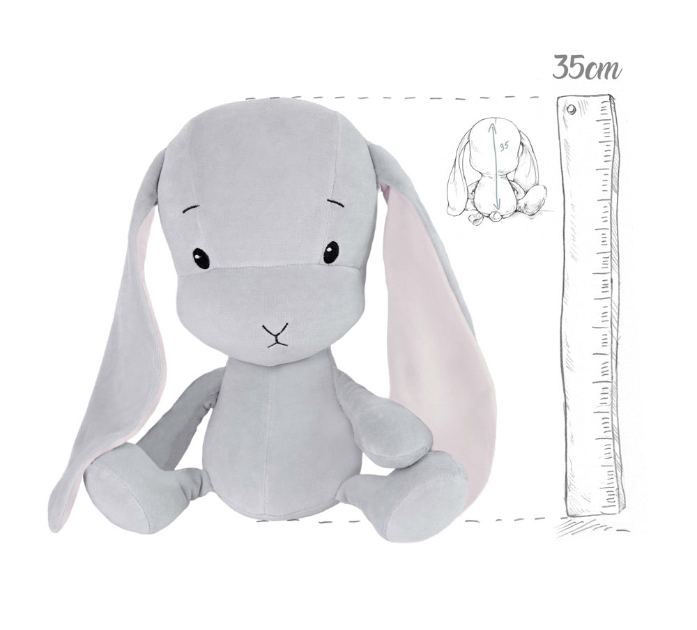 Bunny Effik- Grey with Pink Ears M 35cm