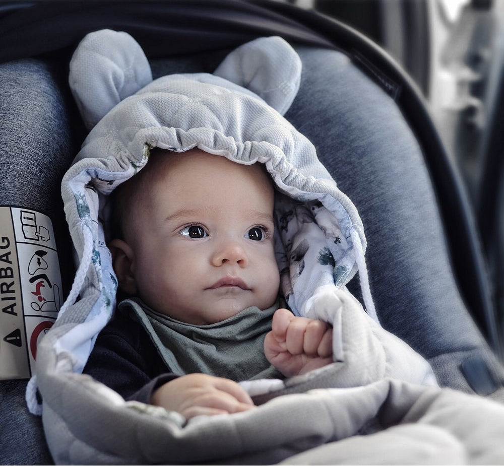 Car Seat Blanket - Nature Grey