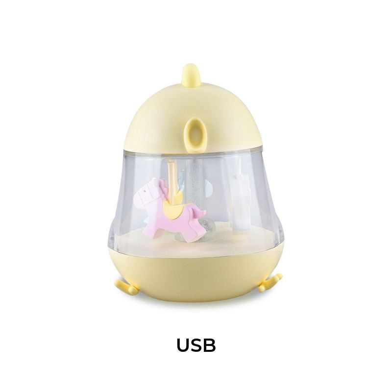 CHICK CAROUSEL MUSICAL BOX WITH NIGHT LIGHT - YELLOW-Nightlight-Babyllama store
