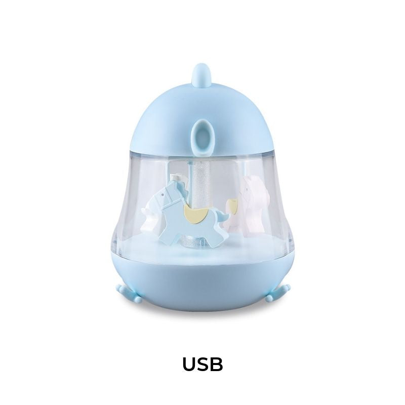 CHICK CAROUSEL MUSICAL BOX WITH NIGHT LIGHT - BLUE-Nightlight-Babyllama store