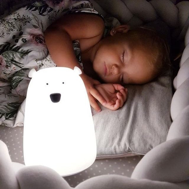 BEAR NIGHTLIGHT- WHITE-Nightlight-Babyllama store