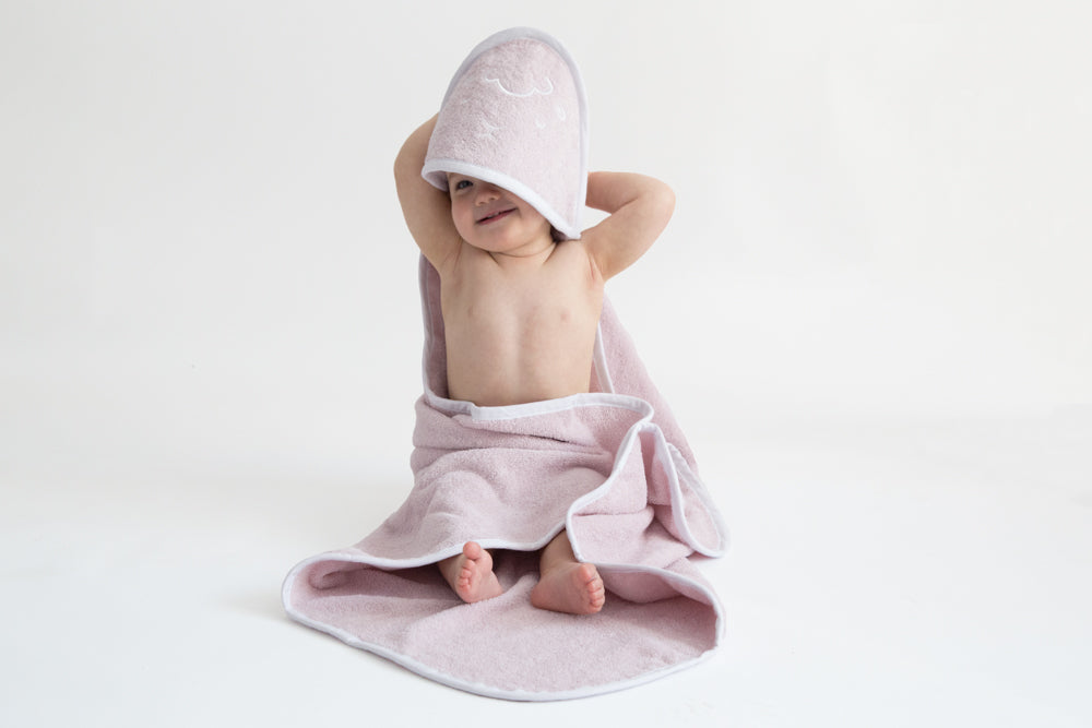 PINK SHEEP HOODED TOWEL-Towel-Babyllama store