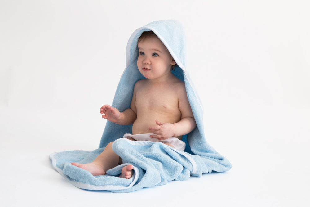 SHEEP HOODED TOWEL - BLUE-Towel-Babyllama store