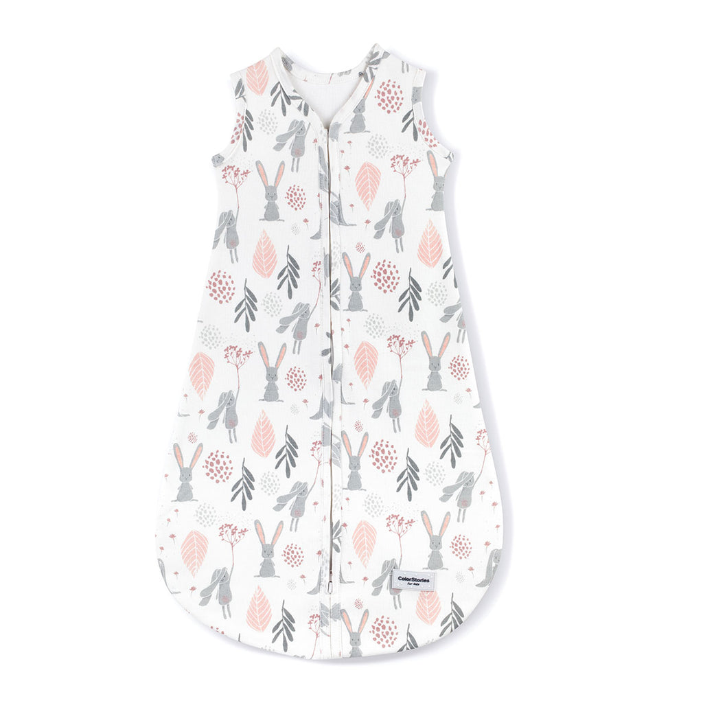 COTTON SLEEPING BAG 1.0 Tog BUNNY - BABYLLAMA STORE