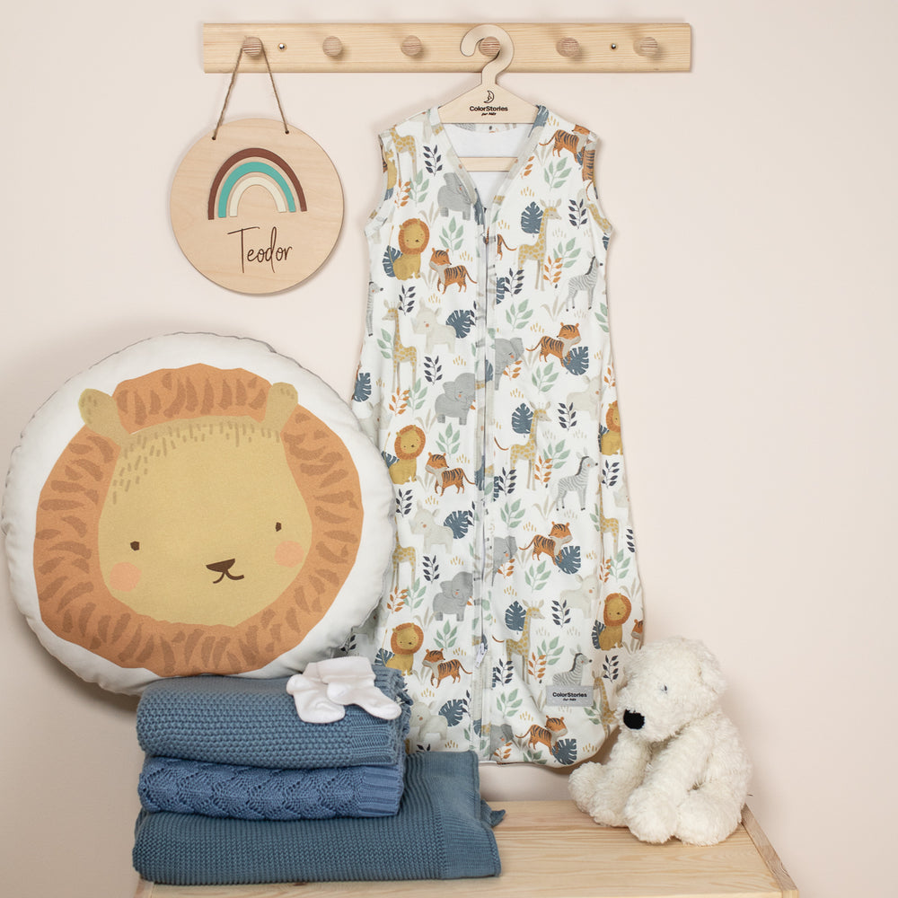 COTTON SLEEPING BAG 1.0 Tog WILD SAFARI - BABYLLAMA STORE