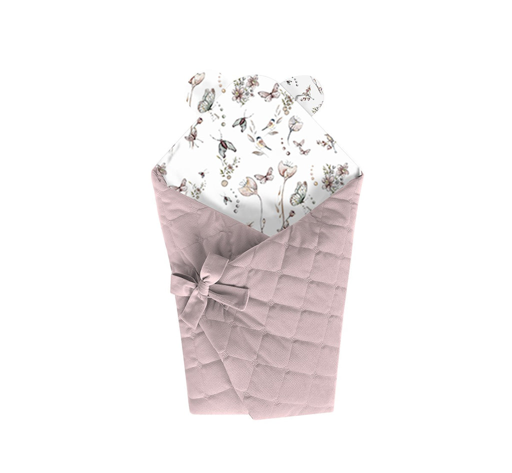 SWADDLE BLANKET - NATURE SEPIA ROSE - Babyllama store