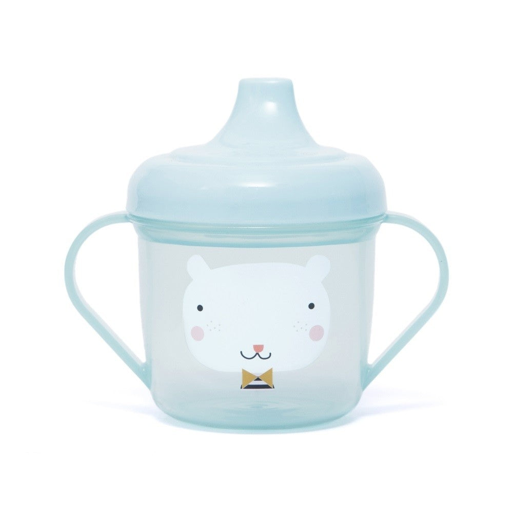 TRAINING CUP - BEAR BLUE-Tableware-Babyllama store