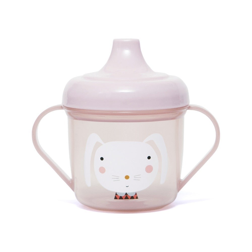 TRAINING CUP - RABBIT PINK-Tableware-Babyllama store