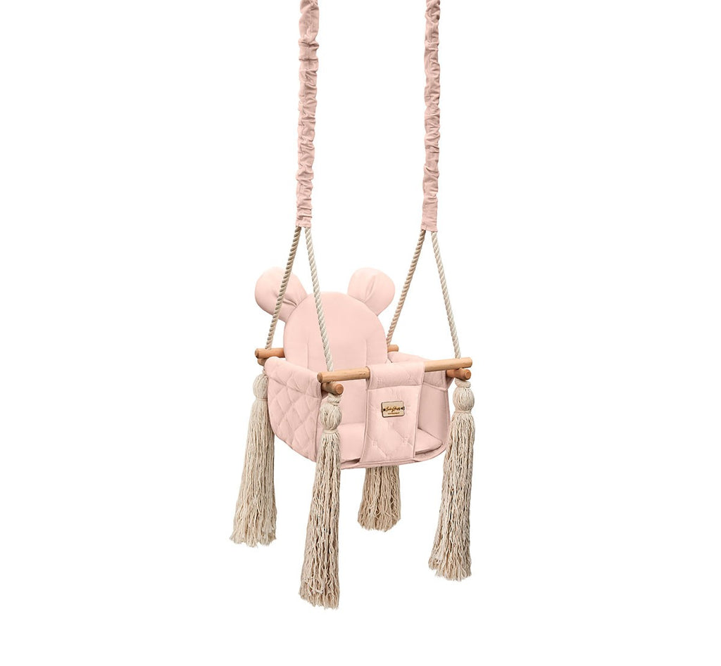 VELVET INDOOR SWING - SOFT PINK