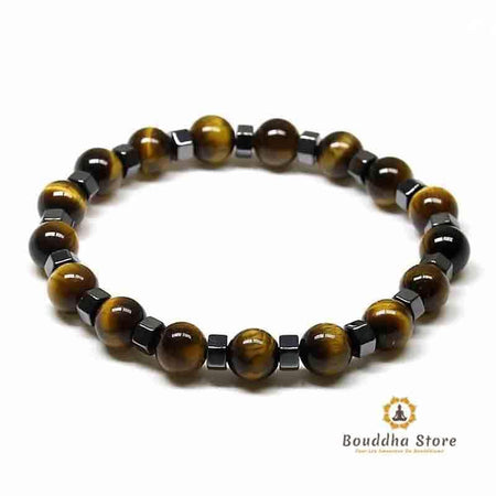 Bracelet eye of Tiger & hematite Protection and balance