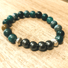 Bracelet motherhood in Agate bubbles and hématite