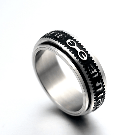 Rotating mantra ring