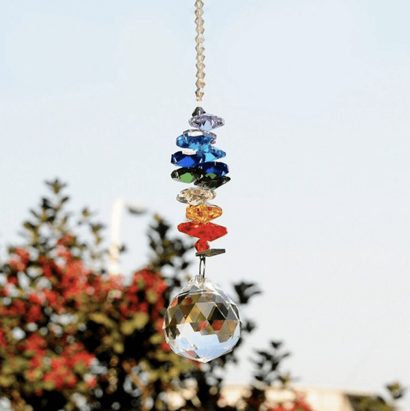 "Suspension Cristal 7 chakras "" purificateur et activateur d'énergie positive """