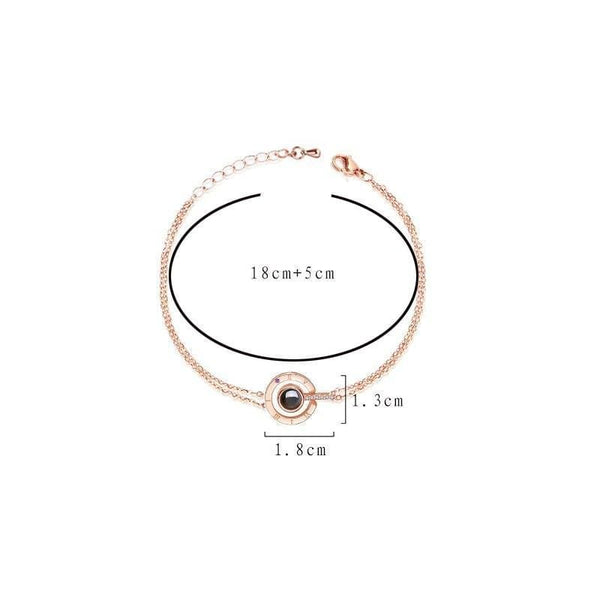 "Bracelet  ""Je t'aime"" à projection"