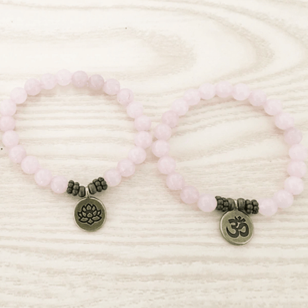 Bracelet Amour en Quartz Rose