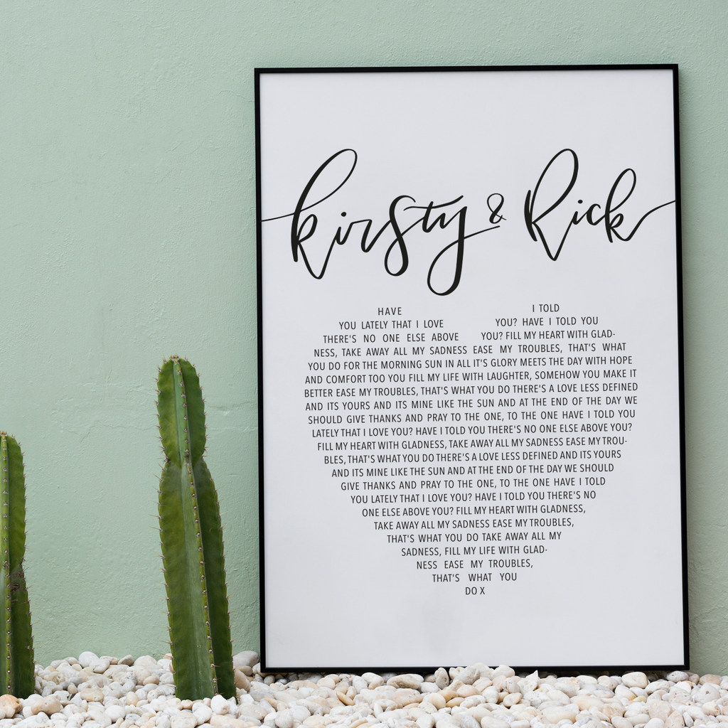 Song Lyric Prints