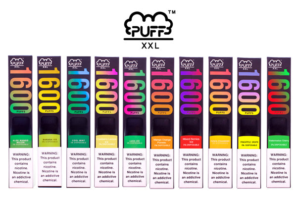 PUFF BAR Release New 1600 puffs disposable vape device PUFF XXL