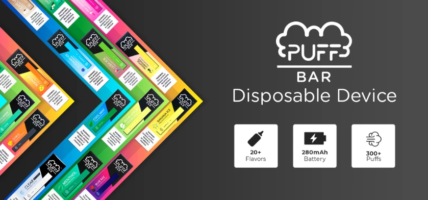 The puff bar device is the most convenient , portable disposable vape device, Puff Bar could give you 300 hits each one,  it is the most popular vape device in the year of 2021.