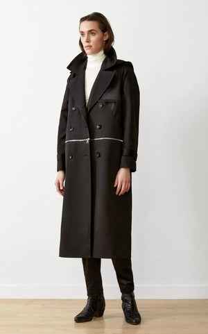 WATER-RESISTANT SUSTAINABLE CONVERTIBLE TRENCH