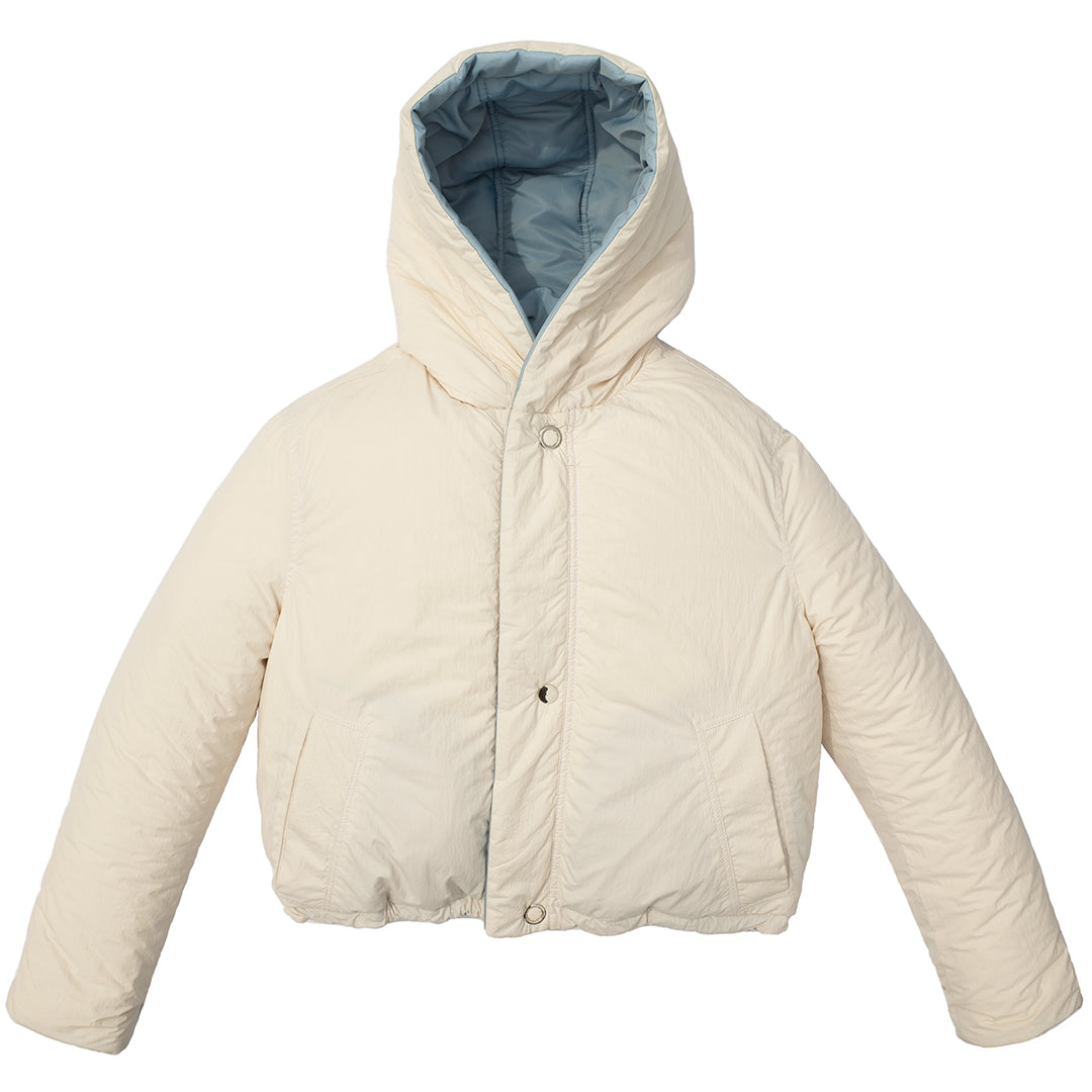 REVERSIBLE SUSTAINABLE DOWN SHORT COAT