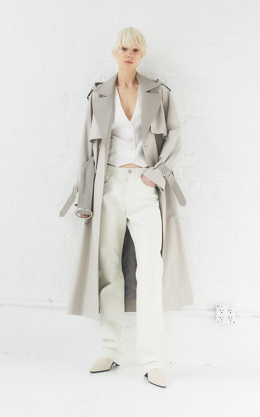 Sustainable Water Resistant Cotton Trench Coat