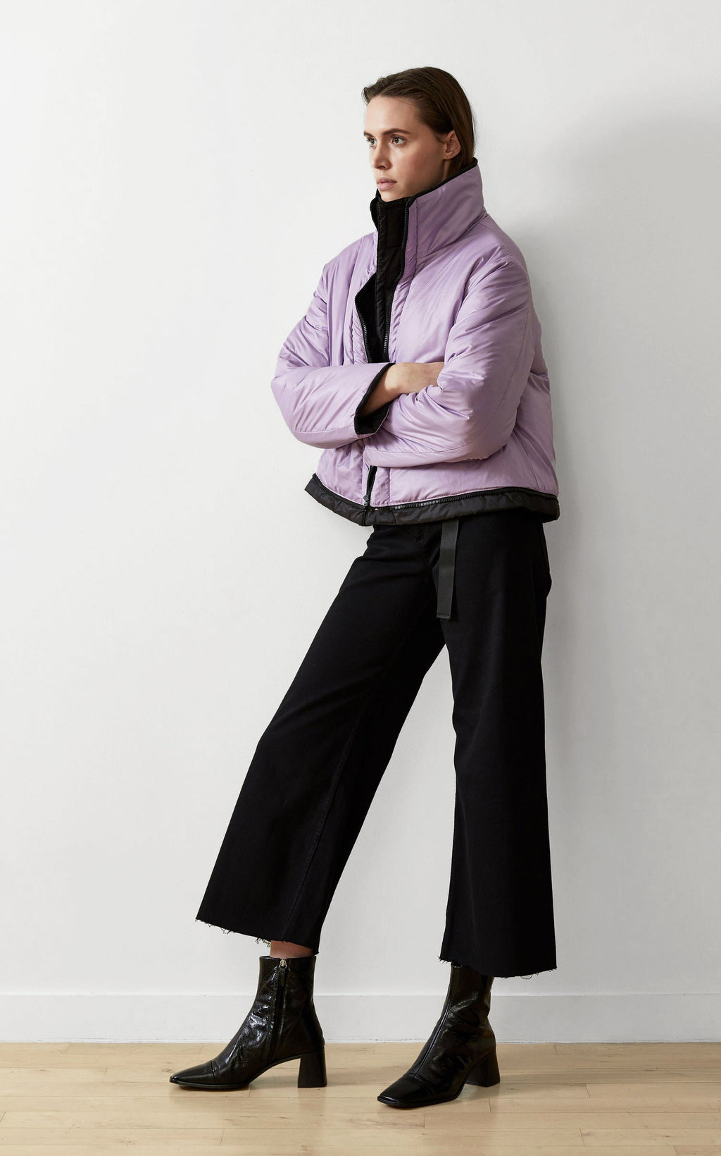 SUSTAINABLE REVERSIBLE CROPPED COAT
