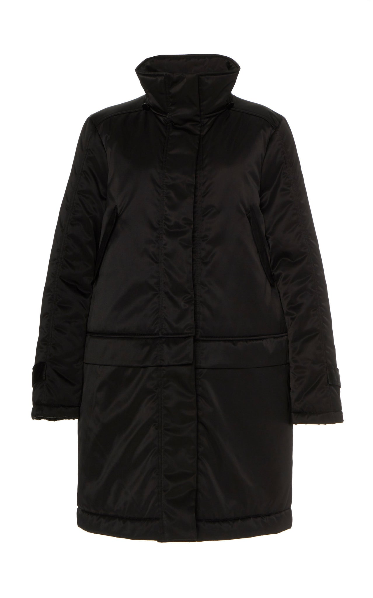 SUSTAINABLE CONVERTIBLE SATIN DOWN COAT