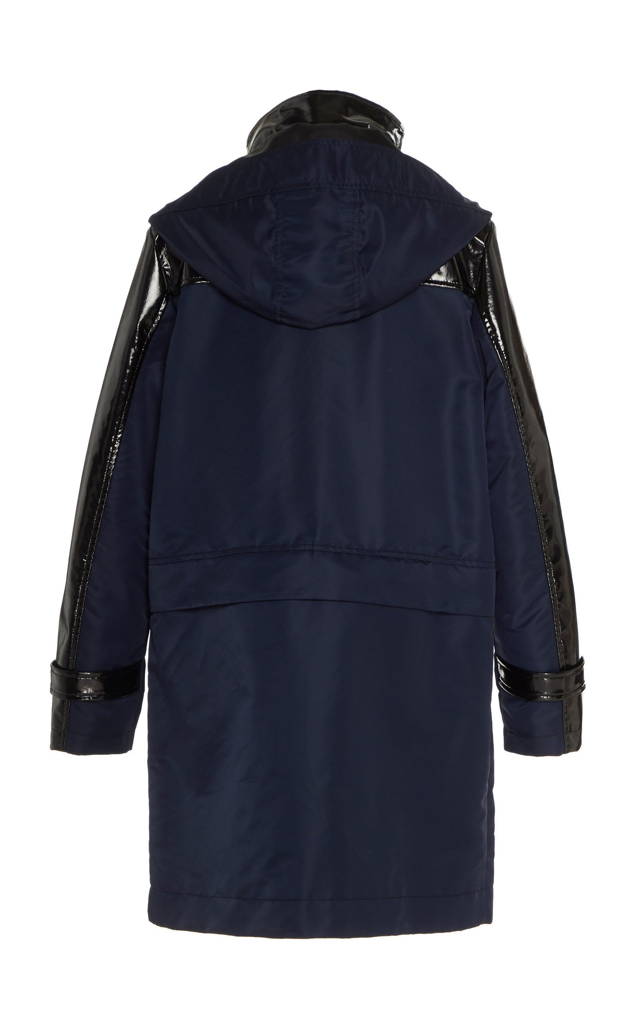 NAVY GLOSSED CONVERTIBLE RAINCOAT