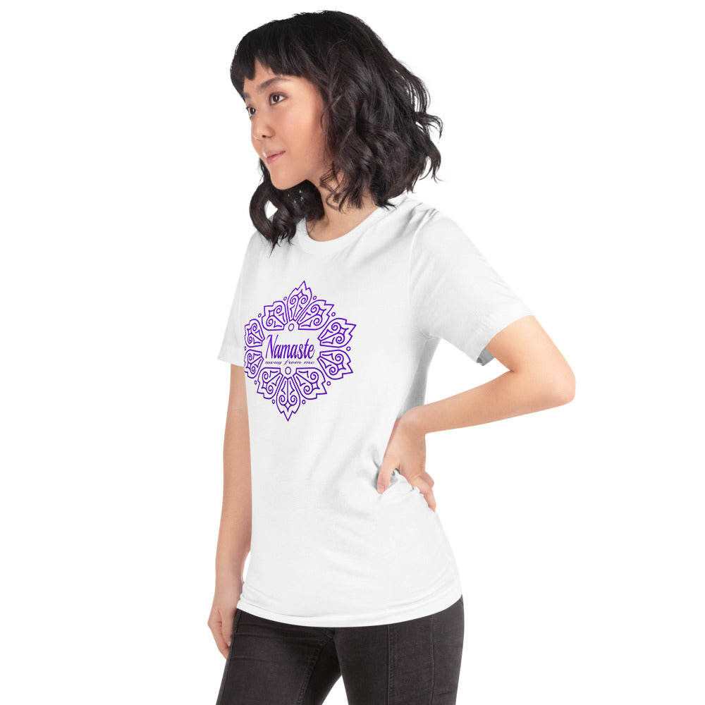 Namaste Away From Me! Purple Design Short-Sleeve Unisex T-Shirt