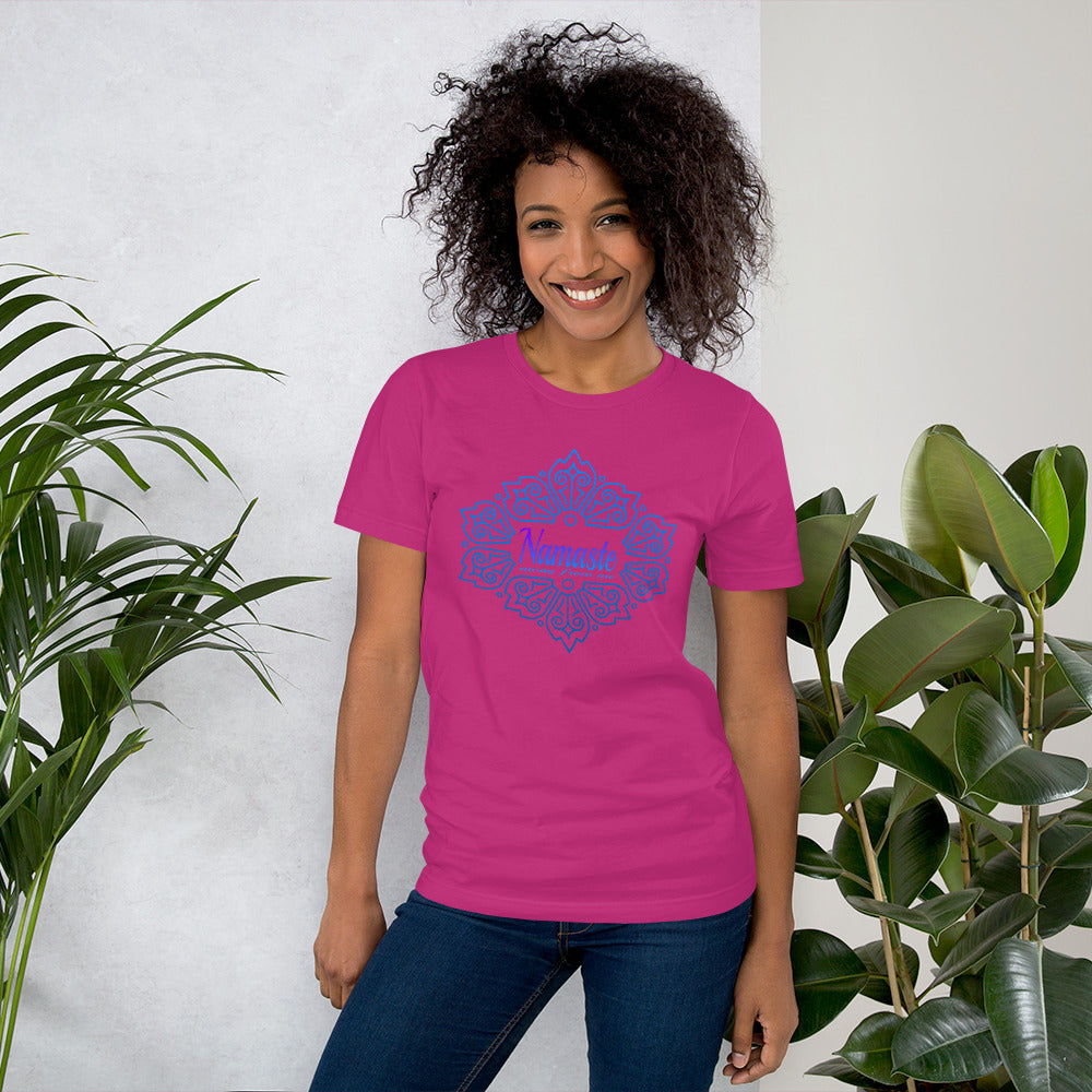 Namaste Away From Me Short-Sleeve Unisex T-Shirt. Let them know how you feel!