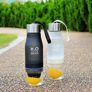 Fruit Infuser Water Bottle Black and White