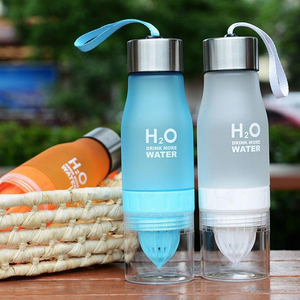 Fruit Infuser Water Bottle Blue and White