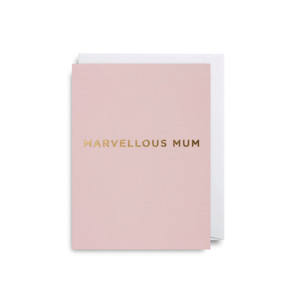 Marvellous Mum Mini Greeting Card