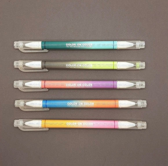Livework Twin Plus Deco Pens - 10 Colours (Set Of 5 Twin Tip Pens)