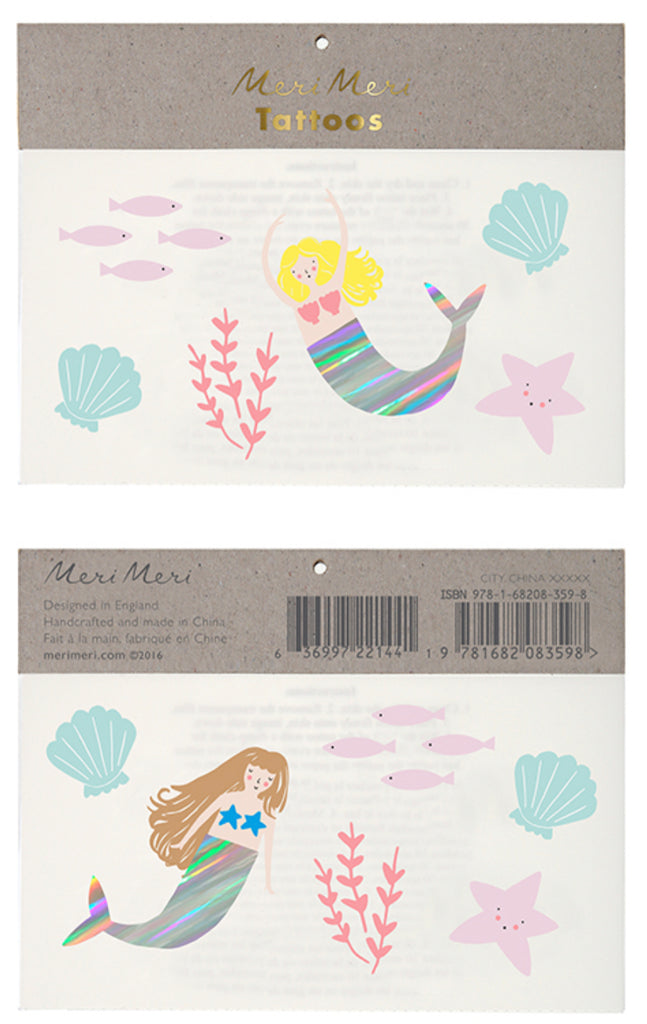 Meri Meri Mermaid Tattoo Pack