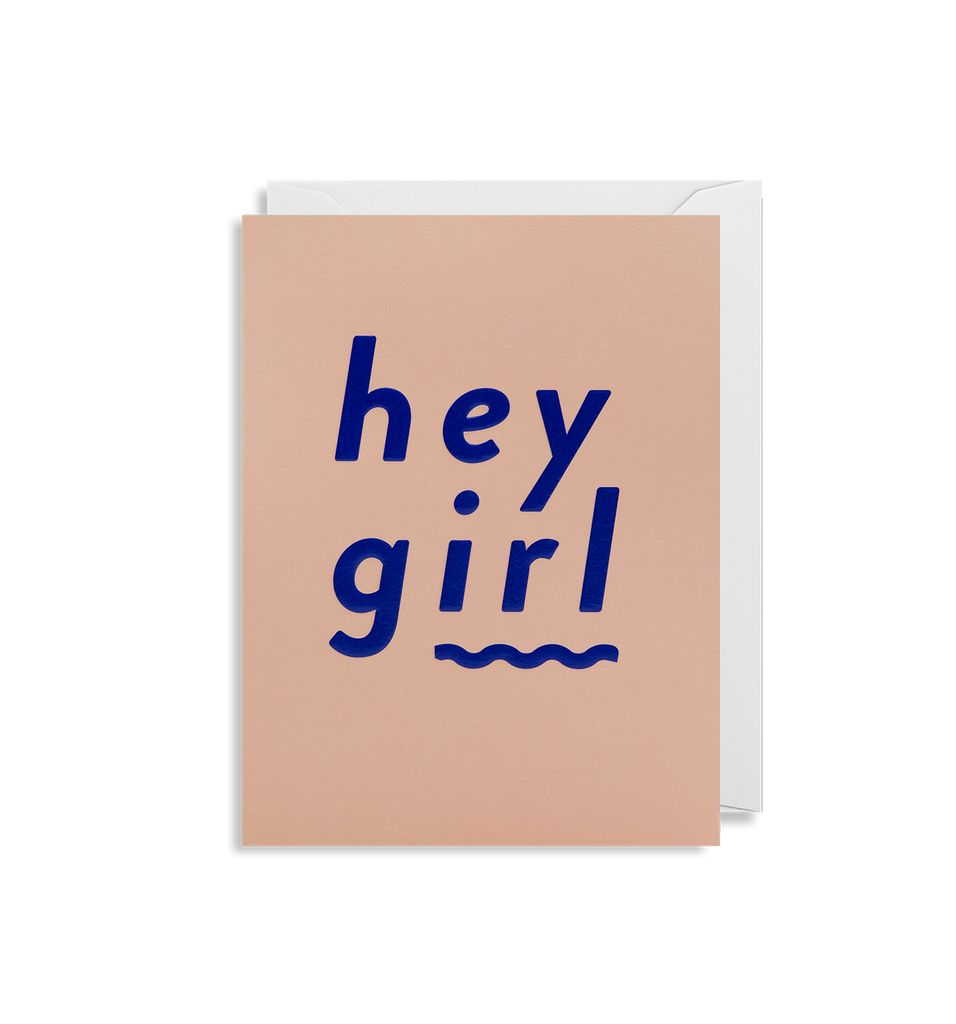 Hey Girl Mini Greeting Card
