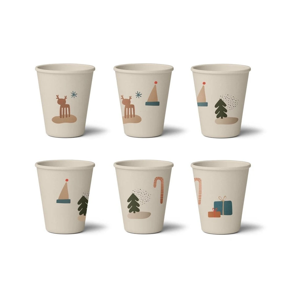 Liewood Gertrud Bamboo Cup - 6 Pack Holiday Mix
