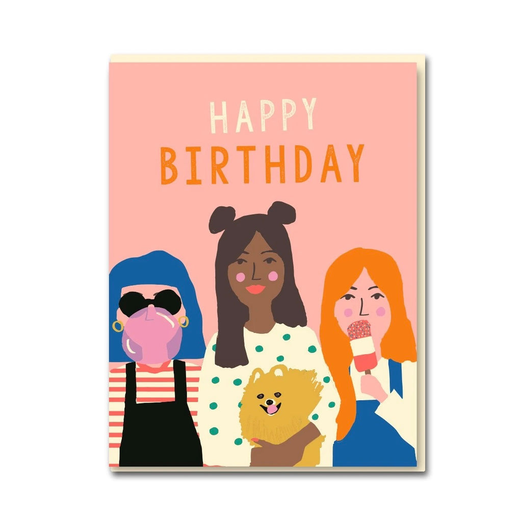 Girl Party Greeting Card