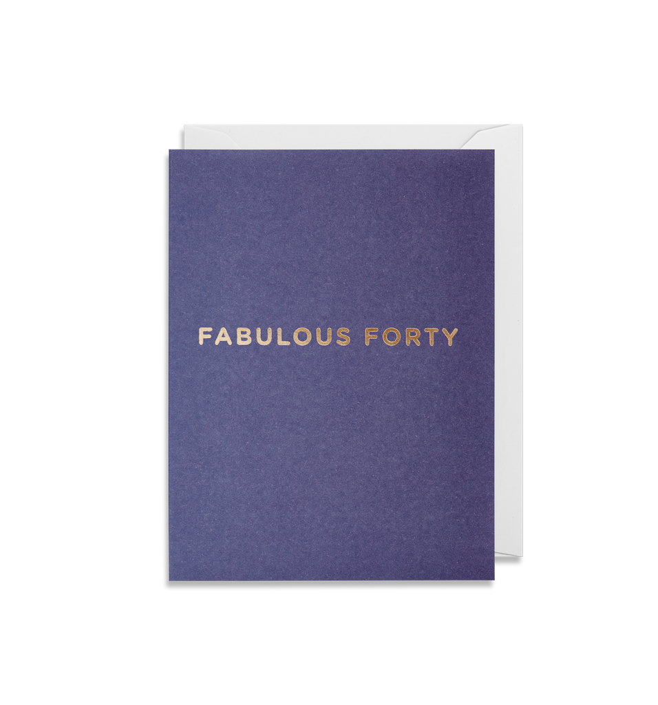 Fabulous Forty  Mini Greeting Card