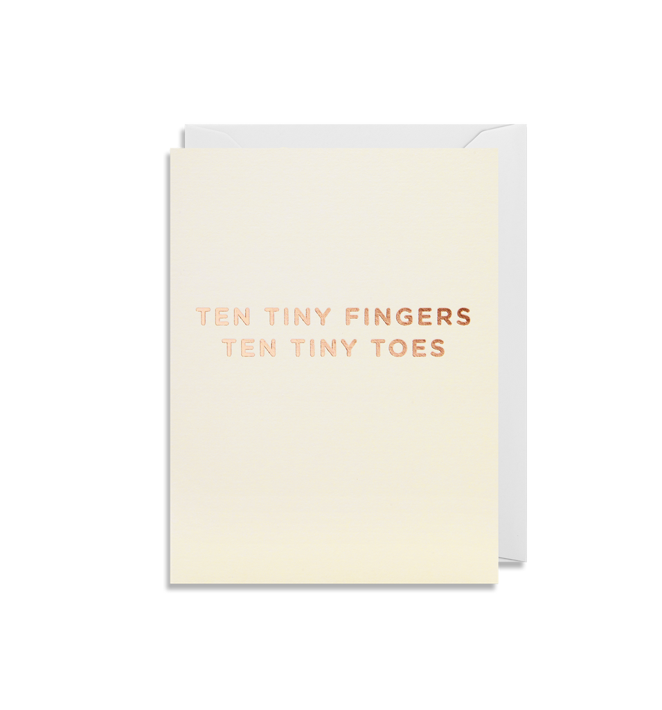 Ten Tiny Fingers, Ten Tiny Toes Mini Greeting Card