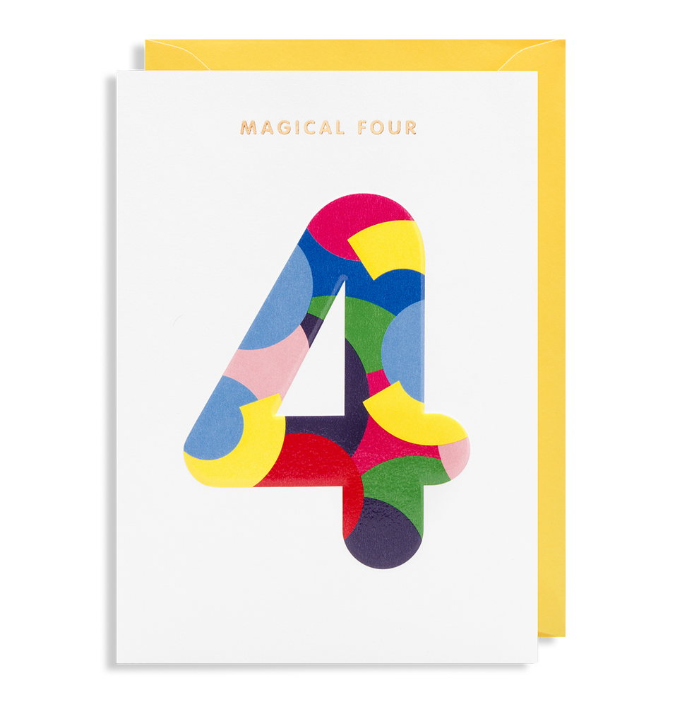 Magical 4 Greeting Card
