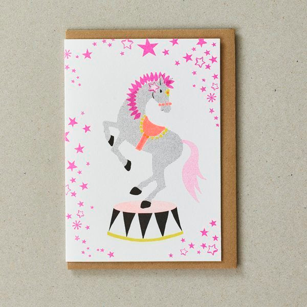 Circus Horse Birthday Greeting Card
