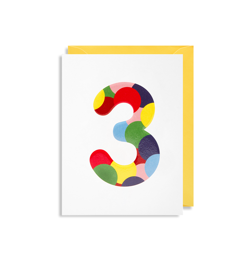3 Is The Magic Number Greeting Card