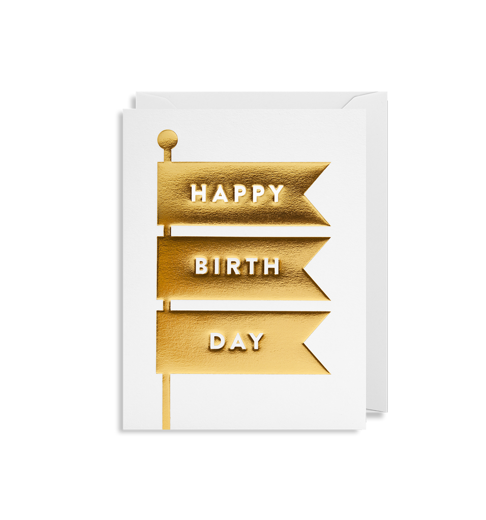 Happy Birthday, Raise The Flags  Mini Greeting Card