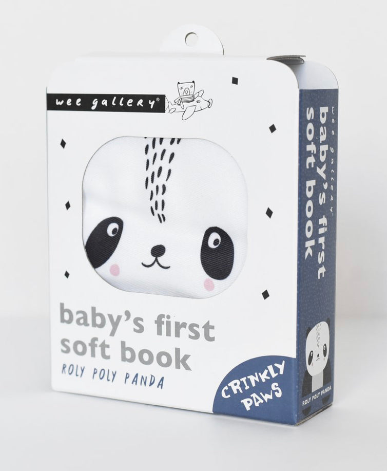 Wee Gallery Roly Poly Panda Soft Cloth Baby Book