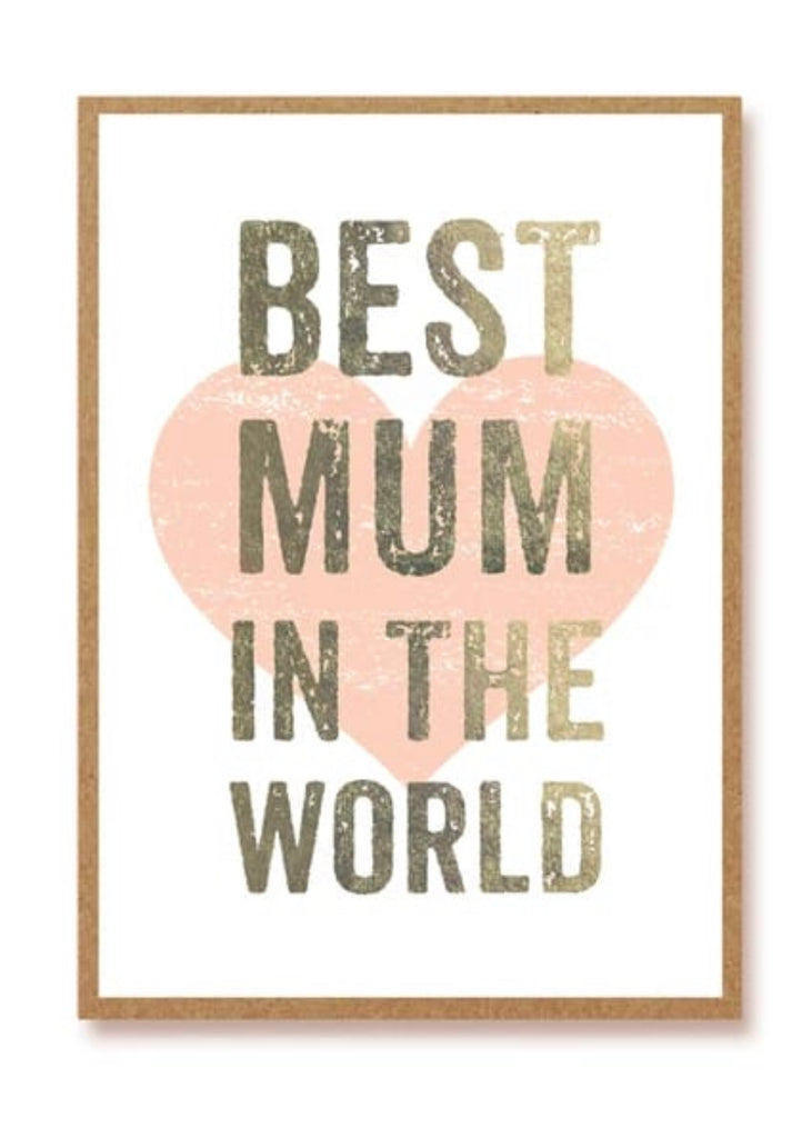 Best Mum In The World Greeting Card