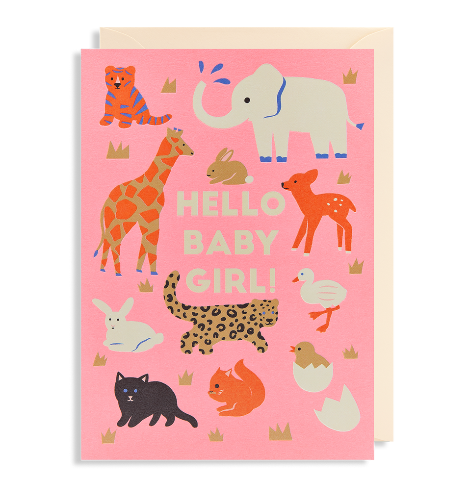 Hello Baby Girl! Greeting Card