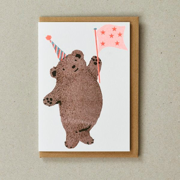 Party Bear Birthday Greeting Card