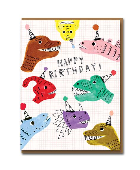 Happy Birthday Dino Greeting Card