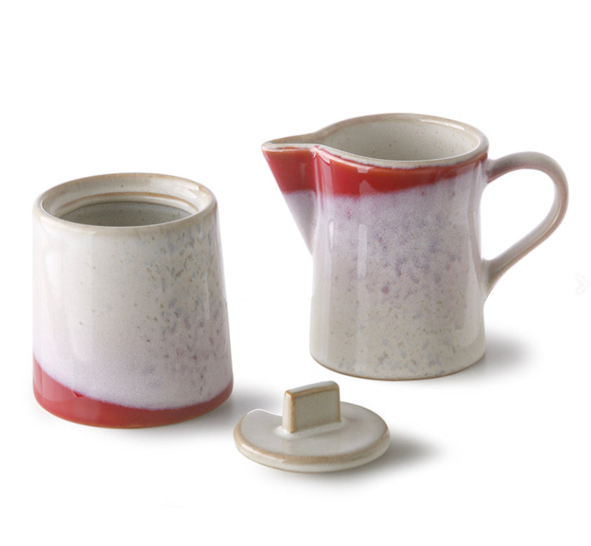 HK Living 70's Milk Jug and Sugar Bowl Set